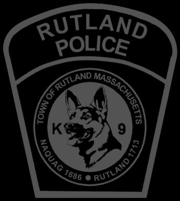 RUTLAND MA POLICE K-9 PATCH K9 Canine