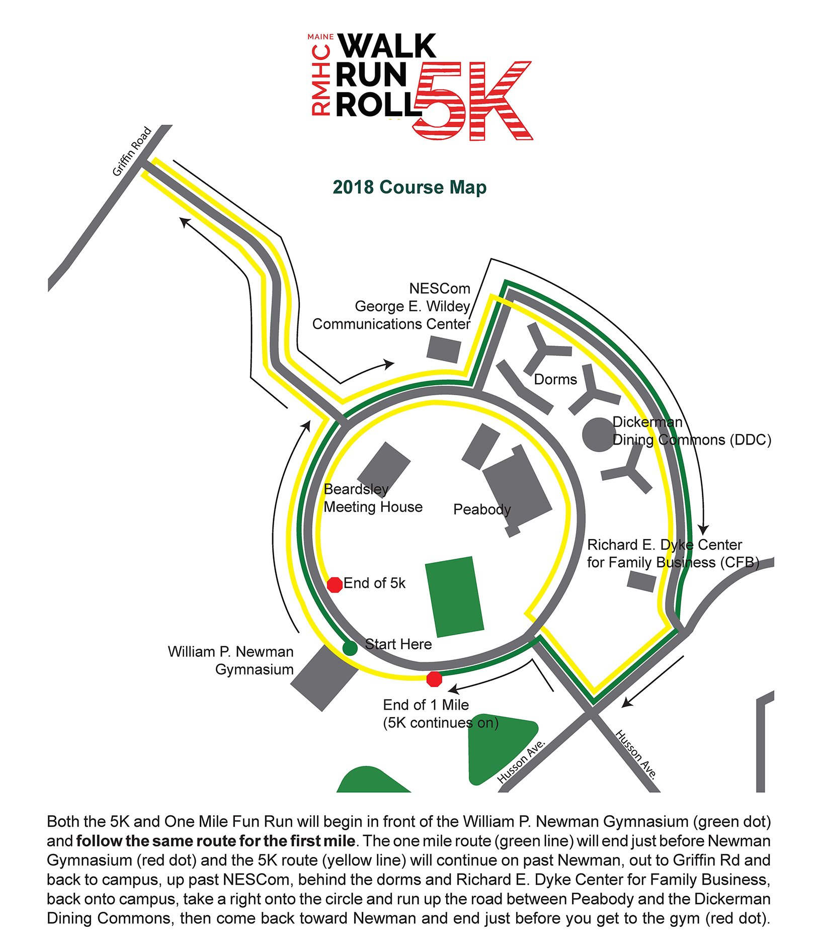 Husson University Campus Map.Racewire Walk Run Roll 5k